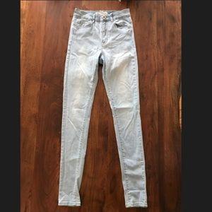 Bullhead Super High Rise Skinniest Light Blue Jean
